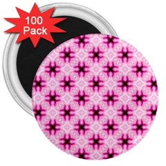 Cute Pretty Elegant Pattern 3  Button Magnet (100 Pack) by creativemom