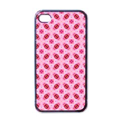Cute Pretty Elegant Pattern Apple Iphone 4 Case (black) by creativemom