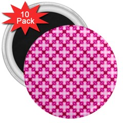 Cute Pretty Elegant Pattern 3  Button Magnet (10 Pack) by creativemom