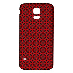 Cute Pretty Elegant Pattern Samsung Galaxy S5 Back Case (white) by creativemom