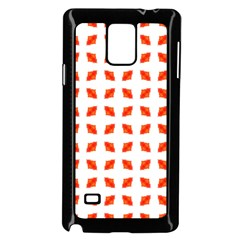 Cute Pretty Elegant Pattern Samsung Galaxy Note 4 Case (black) by creativemom