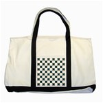 Cute Pretty Elegant Pattern Two Toned Tote Bag Front