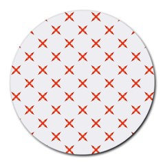 Cute Pretty Elegant Pattern 8  Mouse Pad (round) by creativemom
