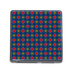 Cute Pretty Elegant Pattern Memory Card Reader With Storage (square) by creativemom