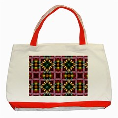 Cute Pretty Elegant Pattern Classic Tote Bag (red) by creativemom
