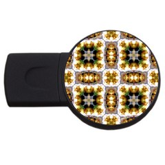 Cute Pretty Elegant Pattern 2gb Usb Flash Drive (round)