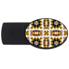 Cute Pretty Elegant Pattern 2gb Usb Flash Drive (oval) by creativemom