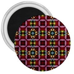 Cute Pretty Elegant Pattern 3  Button Magnet by creativemom