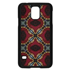 Cute Pretty Elegant Pattern Samsung Galaxy S5 Case (black) by creativemom
