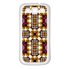 Cute Pretty Elegant Pattern Samsung Galaxy S3 Back Case (white) by creativemom