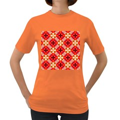 Cute Pretty Elegant Pattern Women s T-shirt (colored) by creativemom