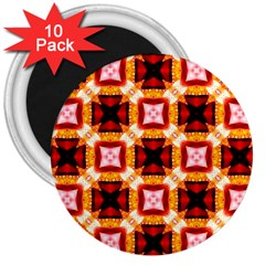 Cute Pretty Elegant Pattern 3  Button Magnet (10 Pack)