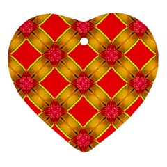 Cute Pretty Elegant Pattern Heart Ornament