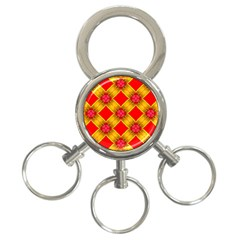 Cute Pretty Elegant Pattern 3-Ring Key Chain