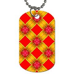 Cute Pretty Elegant Pattern Dog Tag (Two-sided)