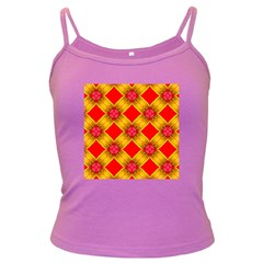 Cute Pretty Elegant Pattern Spaghetti Top (Colored)