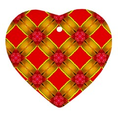 Cute Pretty Elegant Pattern Heart Ornament (Two Sides)