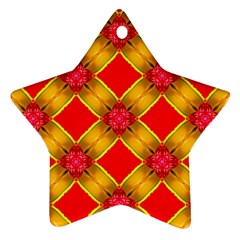 Cute Pretty Elegant Pattern Star Ornament (Two Sides)