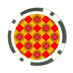 Cute Pretty Elegant Pattern Poker Chip