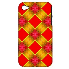 Cute Pretty Elegant Pattern Apple iPhone 4/4S Hardshell Case (PC+Silicone)