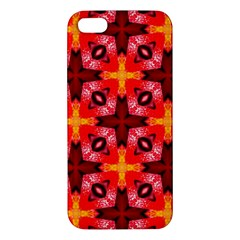 Cute Pretty Elegant Pattern Apple Iphone 5 Premium Hardshell Case by creativemom