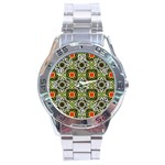 Cute Pretty Elegant Pattern Stainless Steel Watch Front