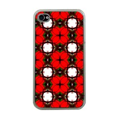 Cute Pretty Elegant Pattern Apple Iphone 4 Case (clear) by creativemom