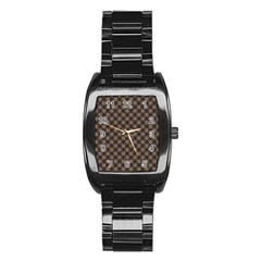 Cute Pretty Elegant Pattern Stainless Steel Barrel Watch