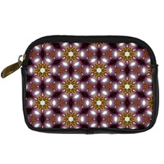 Cute Pretty Elegant Pattern Digital Camera Leather Case by creativemom