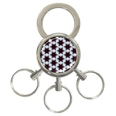 Cute Pretty Elegant Pattern 3 Ring Key Chain by creativemom