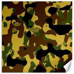 Camo Pattern  Canvas 16  X 16  (unframed) by Colorfulart23