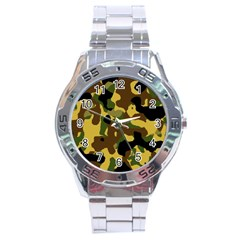 Camo Pattern  Stainless Steel Watch by Colorfulart23