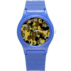 Camo Pattern  Plastic Sport Watch (small) by Colorfulart23