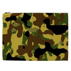 Camo Pattern  Cosmetic Bag (xxl) by Colorfulart23