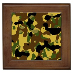 Camo Pattern  Framed Ceramic Tile by Colorfulart23