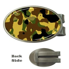 Camo Pattern  Money Clip (oval)