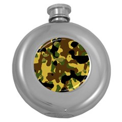 Camo Pattern  Hip Flask (round) by Colorfulart23