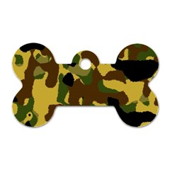 Camo Pattern  Dog Tag Bone (two Sided) by Colorfulart23