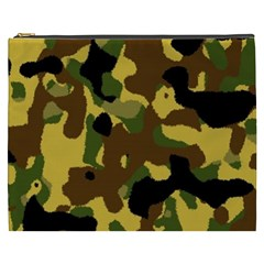 Camo Pattern  Cosmetic Bag (xxxl) by Colorfulart23