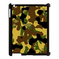 Camo Pattern  Apple Ipad 3/4 Case (black) by Colorfulart23