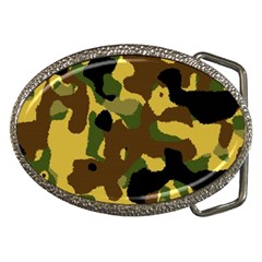 Camo Pattern  Belt Buckle (oval) by Colorfulart23