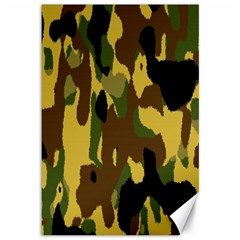 Camo Pattern  Canvas 12  X 18  (unframed) by Colorfulart23