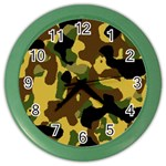 Camo Pattern  Wall Clock (Color) Front