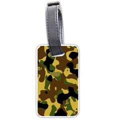 Camo Pattern  Luggage Tag (one Side) by Colorfulart23