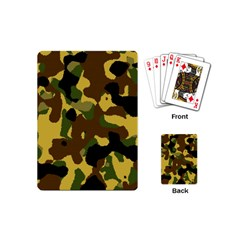 Camo Pattern  Playing Cards (mini) by Colorfulart23