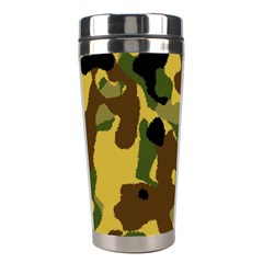Camo Pattern  Stainless Steel Travel Tumbler by Colorfulart23