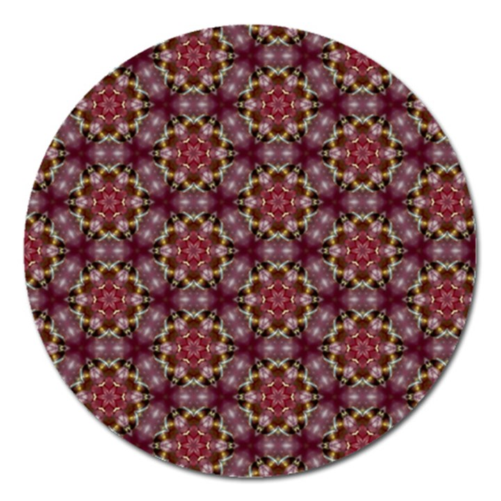Cute Pretty Elegant Pattern Magnet 5  (Round)