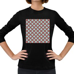 Cute Pretty Elegant Pattern Women s Long Sleeve T-shirt (dark Colored) by creativemom