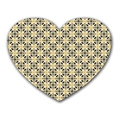Cute Pretty Elegant Pattern Mouse Pad (heart) by creativemom