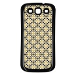 Cute Pretty Elegant Pattern Samsung Galaxy S3 Back Case (Black) Front